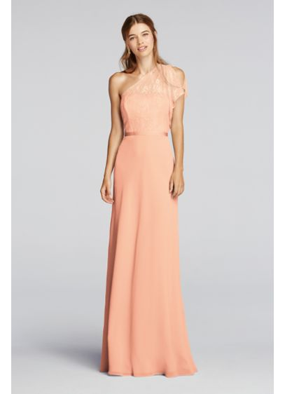 Long Blue Soft & Flowy Wonder by Jenny Packham Bridesmaid Dress