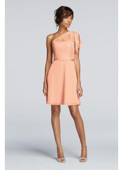 Short Orange Soft & Flowy Wonder by Jenny Packham Bridesmaid Dress