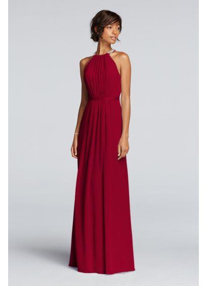 Long Pink Soft & Flowy Wonder by Jenny Packham Bridesmaid Dress