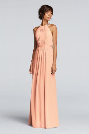 Coral dress wedding