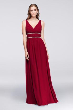 Beaded Bodice Chiffon Gown