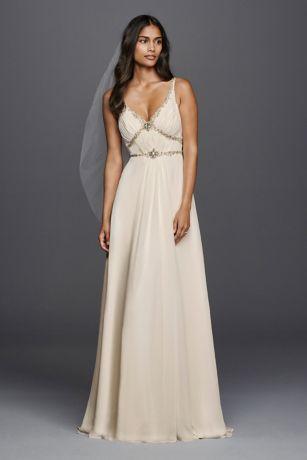 V-Neck Chiffon Wedding Gowns