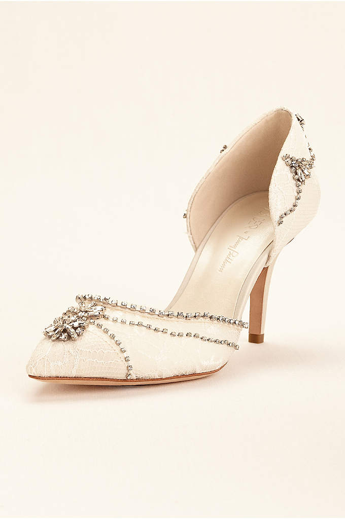 Wonder by Jenny Packham Crystal Embellished Pump - Add a vintage touch to your look with