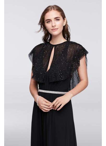 Beaded Flutter Sleeve Capelet - Wedding Accessories