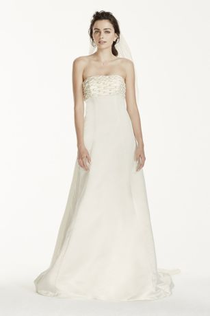 A-Line Wedding Dresses with Long Trains