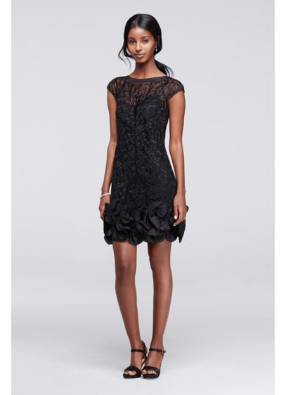 Short Sheath Cap Sleeves Cocktail and Party Dress - Jessica Simpson