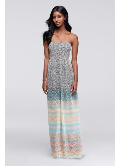 Long A-Line Strapless Formal Dresses Dress - Jessica Simpson