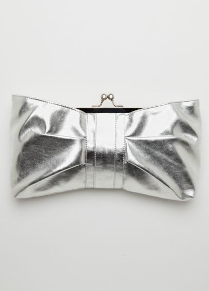 Metallic Bow Clutch  JUDY