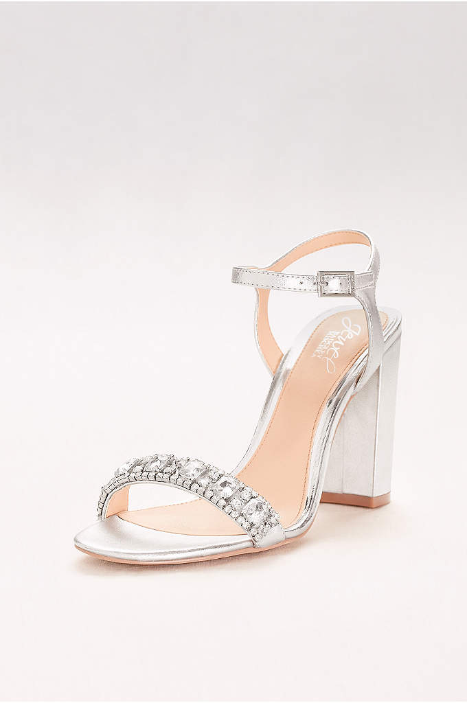 Block Heel Sandal with Embellished Strap - Retro-inspired block-heel sandals are a chic choice for