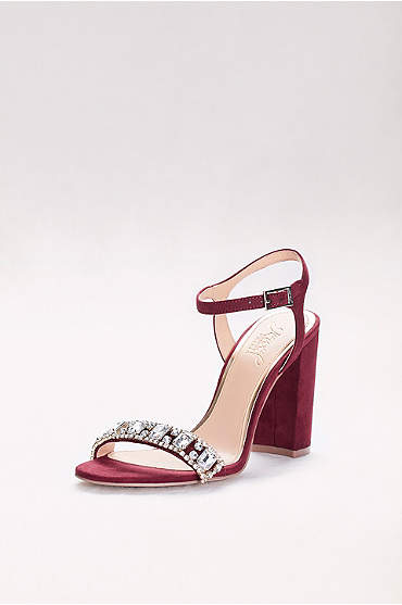 Block Heel Sandal with Embellished Strap
