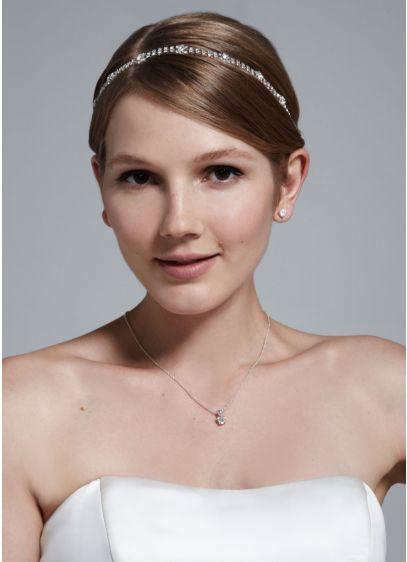 Crystal Headband with Elastic Back - Wedding Accessories