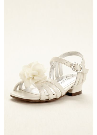 Touch of Nina Ivory (Touch of Nina Flower Girl Sandal with Flowers)