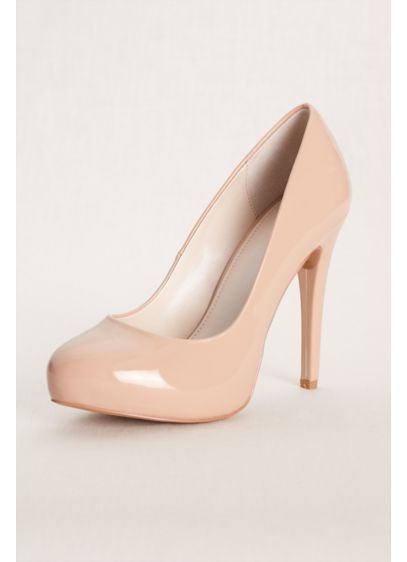David's Bridal Beige (Nude Patent Pump)