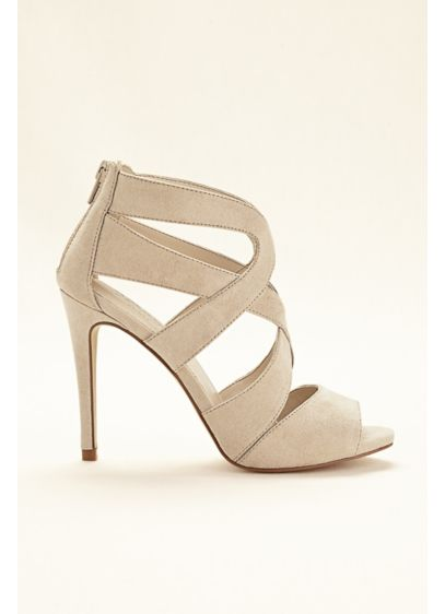 David's Bridal Grey (Thick Strappy Sandals)