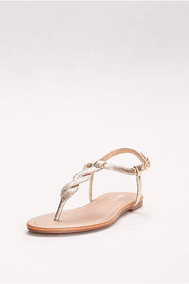 Twisted T-Strap Sandals