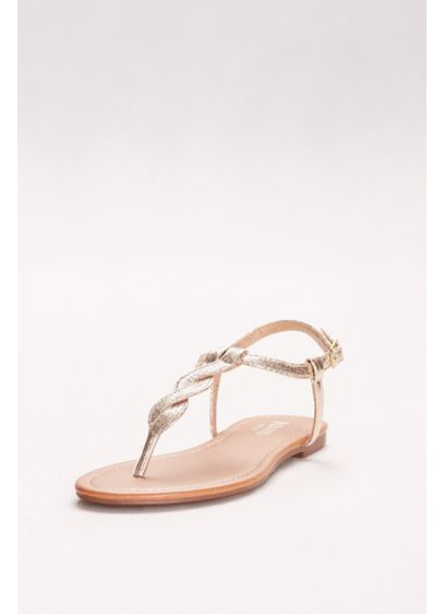 David's Bridal Grey (Twisted T-Strap Sandals)
