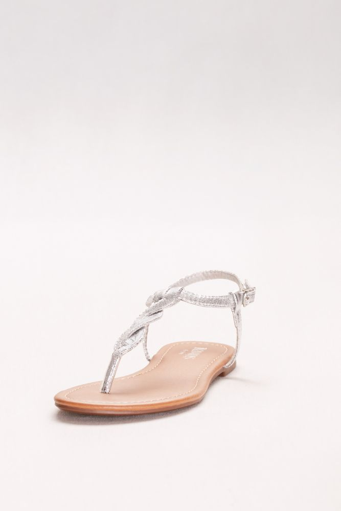 74753161dded45 Set kendall 10757650 silver metallic hei 1000 · David s Bridal. Twisted T-Strap  Sandals ...