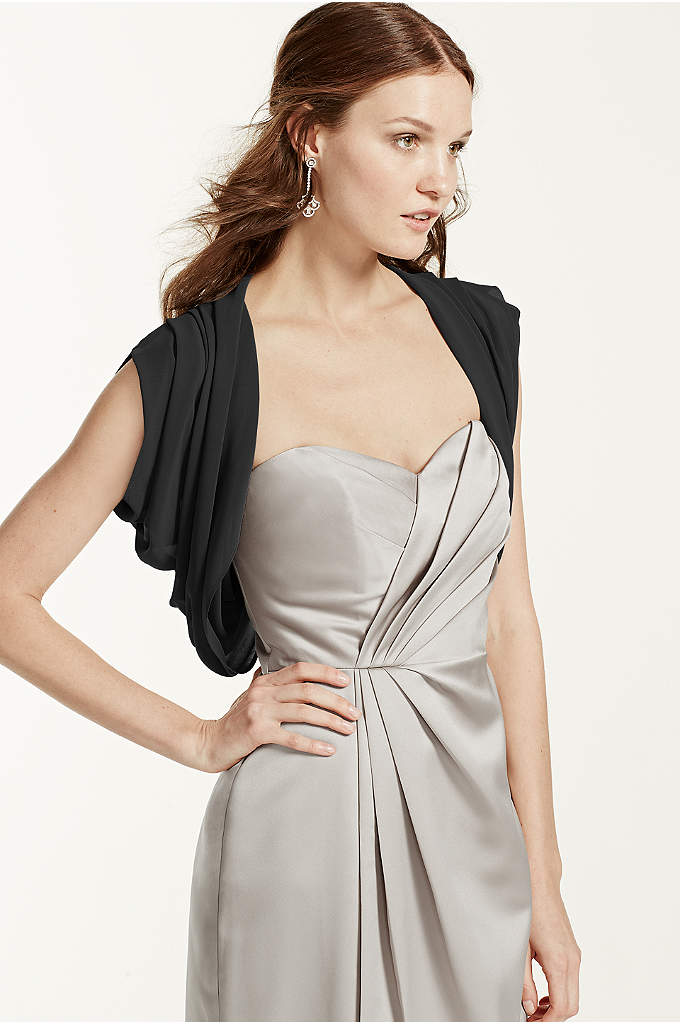 Chiffon Bolero Jacket - Chic and stunning, this chiffon bolero is the