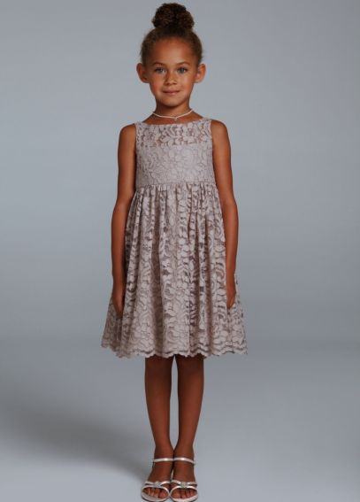 All Over Lace A-Line Dress with Illusion Neckline KP1346