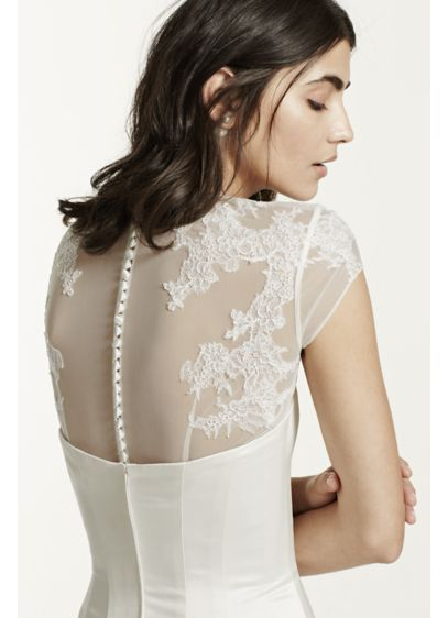 Tulle Cap Sleeve Topper with Lace Detailing - Wedding Accessories