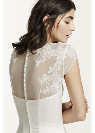 Tulle Cap Sleeve Topper with Lace Detailing KP145