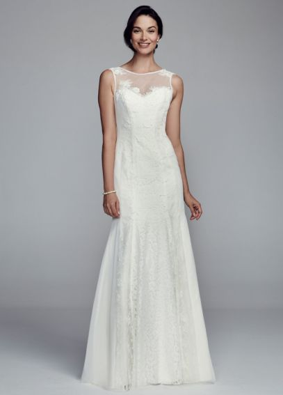 Lace Trumpet Gown with Illusion Neckline KP3660