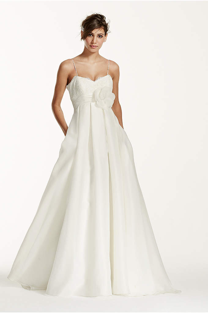 Spaghetti Strap Empire Waist Ball Gown - You've picked out the perfect flowers for your