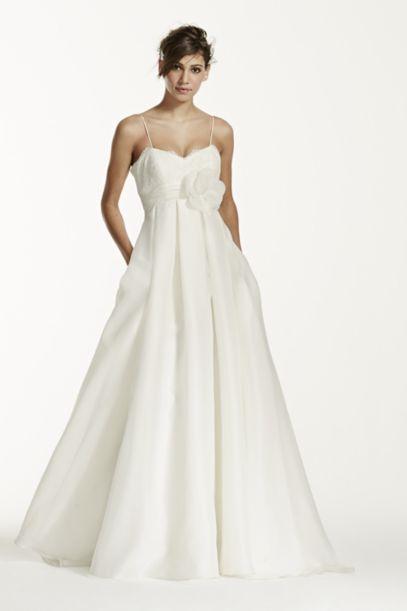 Spaghetti Strap Empire Waist Ball Gown - Davids Bridal
