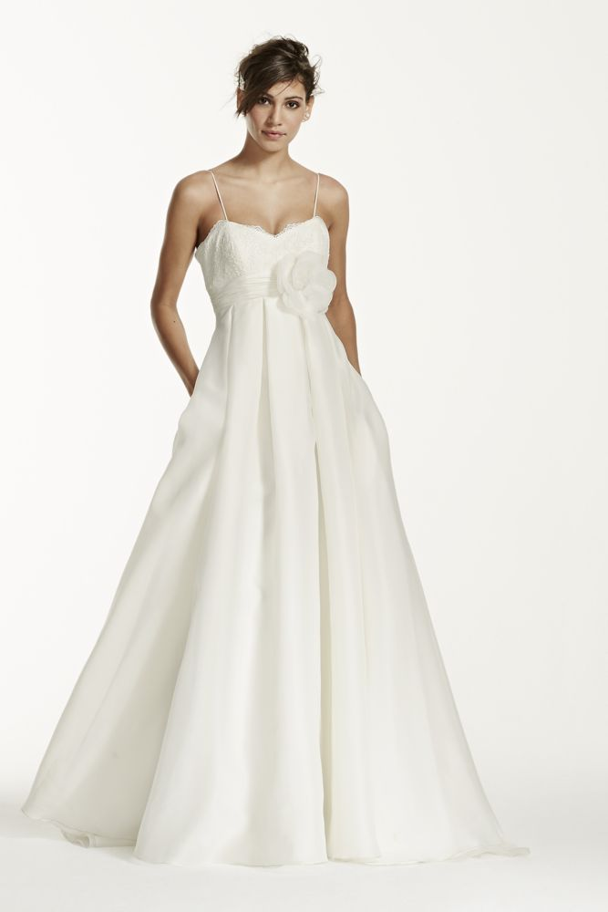 galina spaghetti strap empire waist ball gown wedding