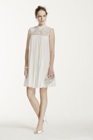 Ivory Short Chiffon Dress