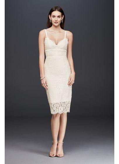 Short Sheath Beach Wedding Dress - Keepsake
