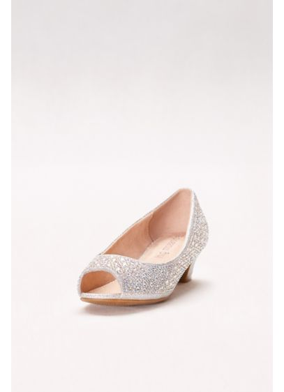 Blossom Beige (Girls Crystal-Embellished Low-Heeled Peep-Toes)