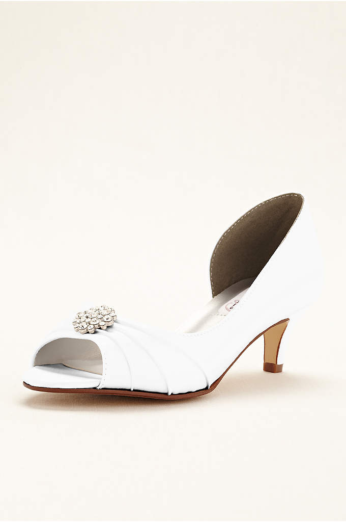 Kim Dyeable D'orsay Peep Toe Pump - Never sacrifice style for comfort in these gorgeous