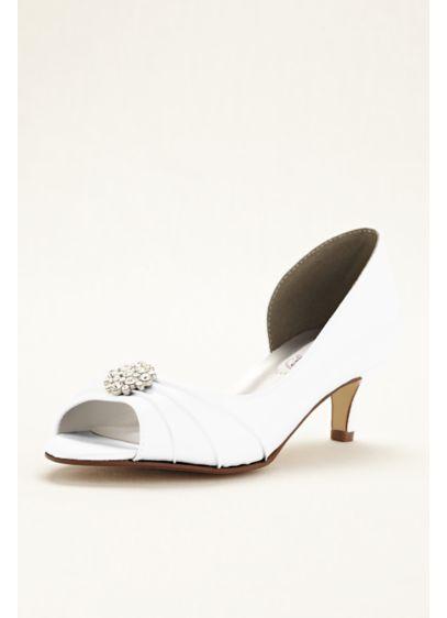 Dyeables White (Kim Dyeable D'orsay Peep Toe Pump)