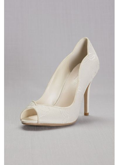 Lace Peep Toe Pump LAYLA