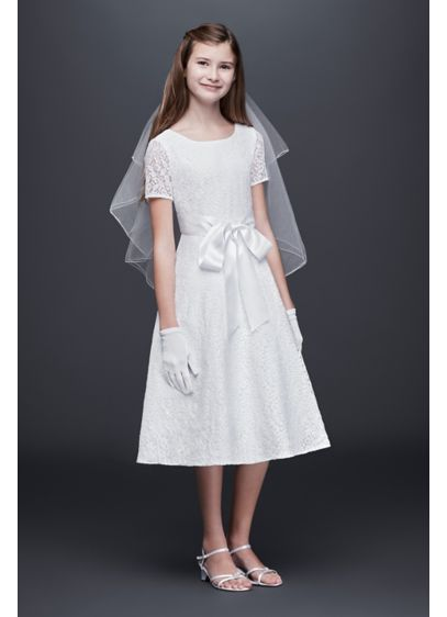 Short A-Line Short Sleeves Dress - US Angels