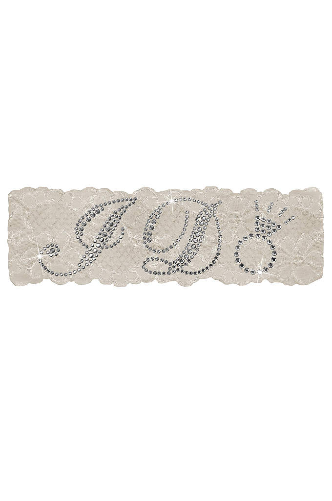 I Do Lace Garter - This sparkling rhinestone-embellished lace garter is the perfect