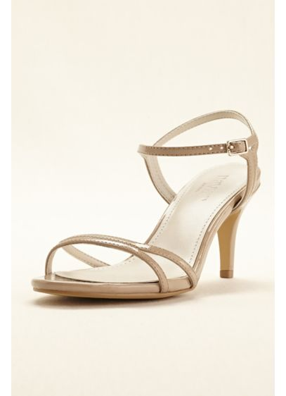 David's Bridal Red (Patent Mid Heel Sandal)