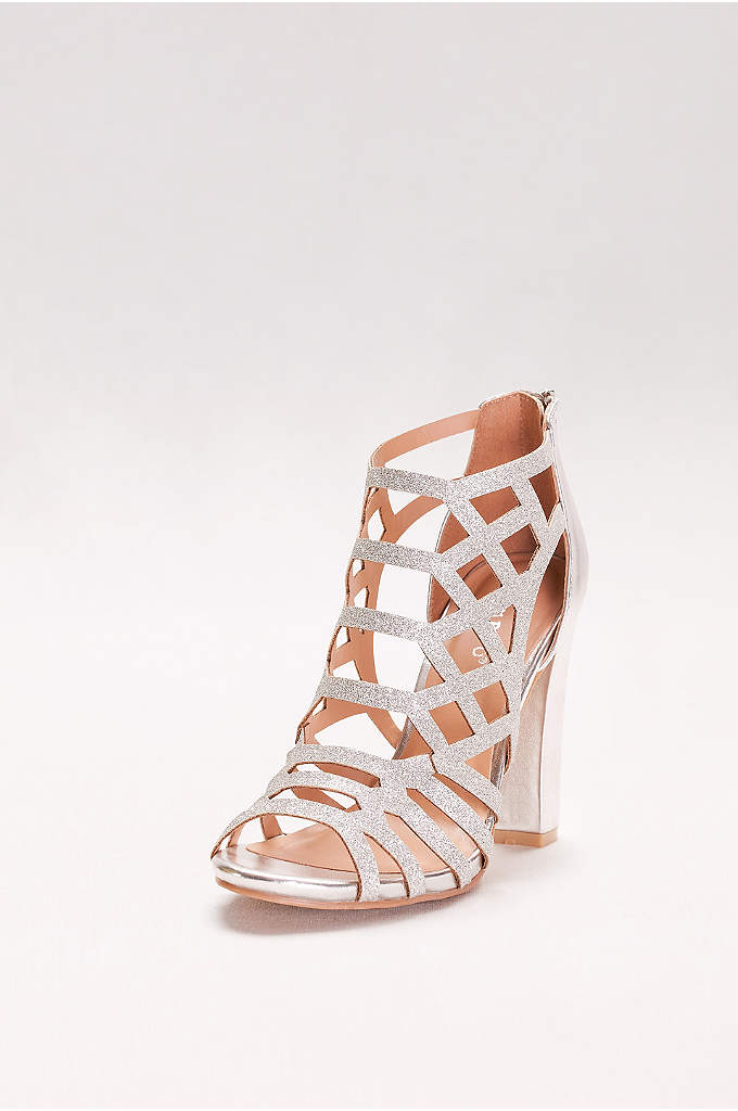 Glitter Cage Block Heels - The super-chic block heel trend is ready for