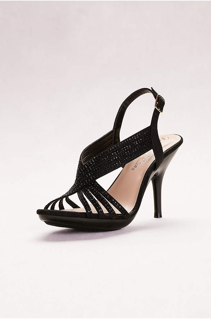 Crystal Slingback Sandals - We love the way the strappy crossover straps