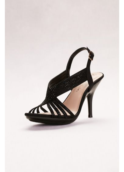 Blossom Black (Crystal Slingback Sandals)