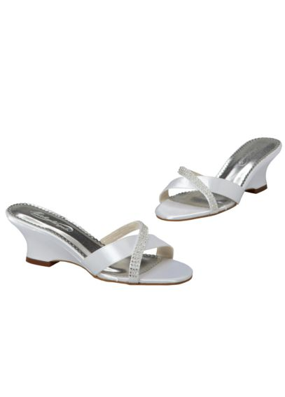 Dyeable Wedge Sandal with Criss-Cross Front LOVE