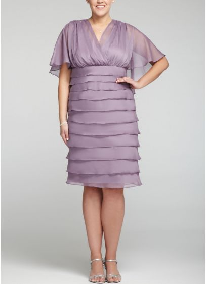 Short Sheath 3/4 Sleeves Cocktail and Party Dress - London Times