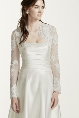 Long Sleeve Lace Jacket - A more sheer coverage option for your special