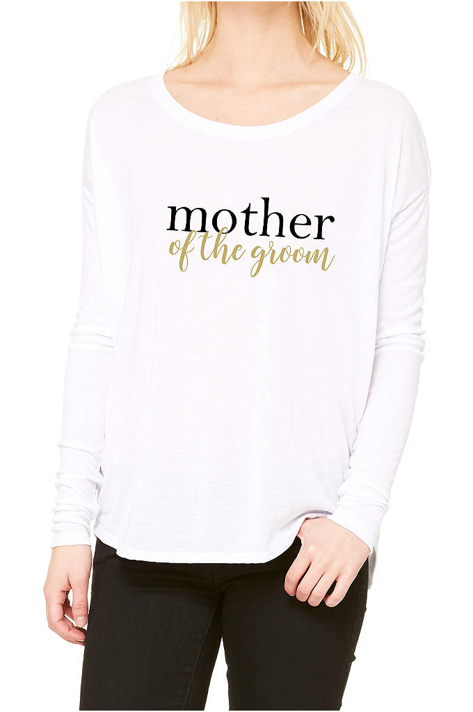 Mother of the Groom Calligraphy Shirt - This Mother of the Groom long sleeve shirt