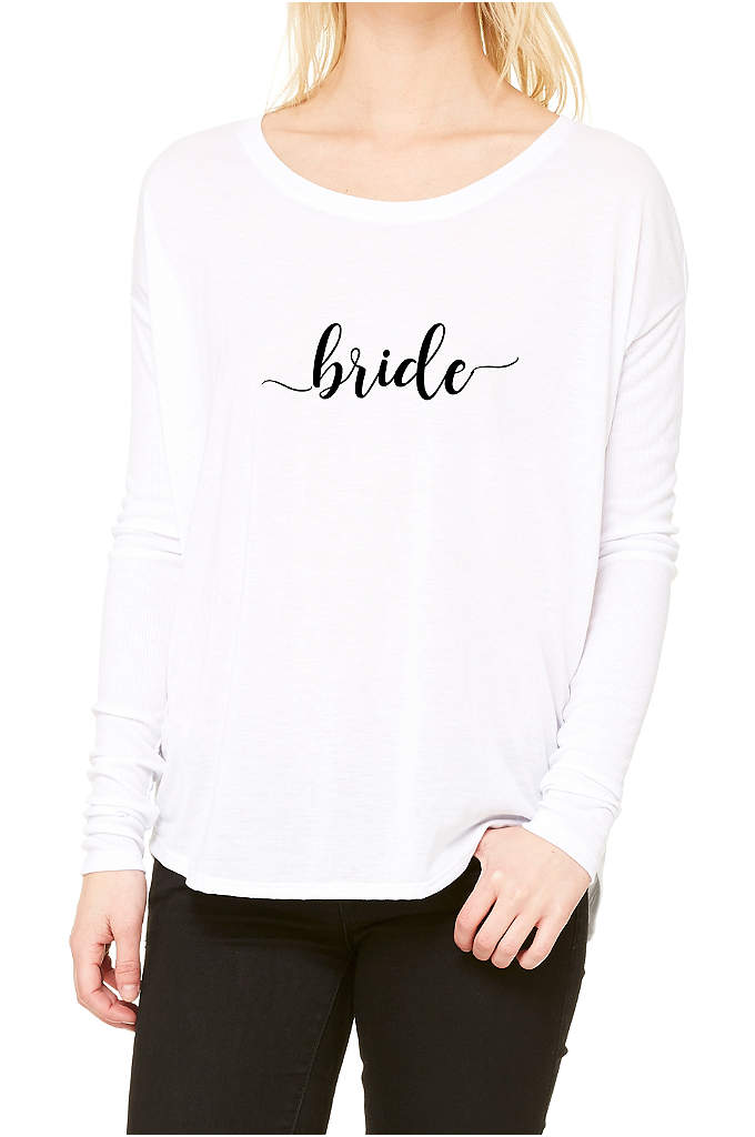 Bride Calligraphy Shirt - A pretty calligraphy script on the most comfortable