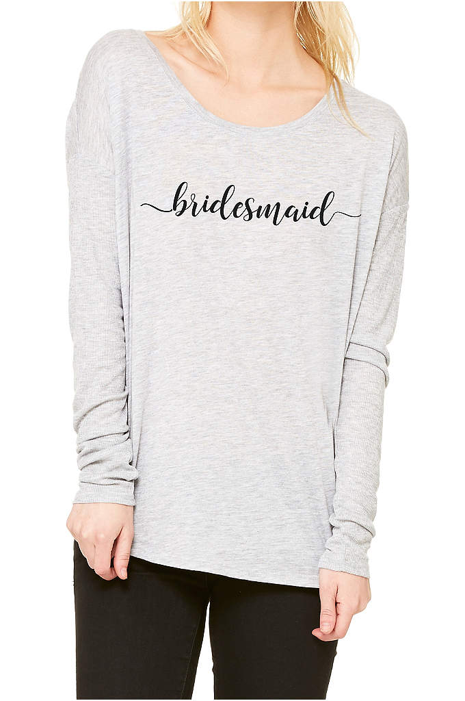 Bridesmaid Calligraphy Shirt - A pretty calligraphy script on the softest, most