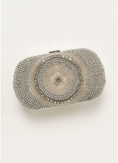 Expressions NYC Embellished Minaudiere Handbag - Wedding Accessories