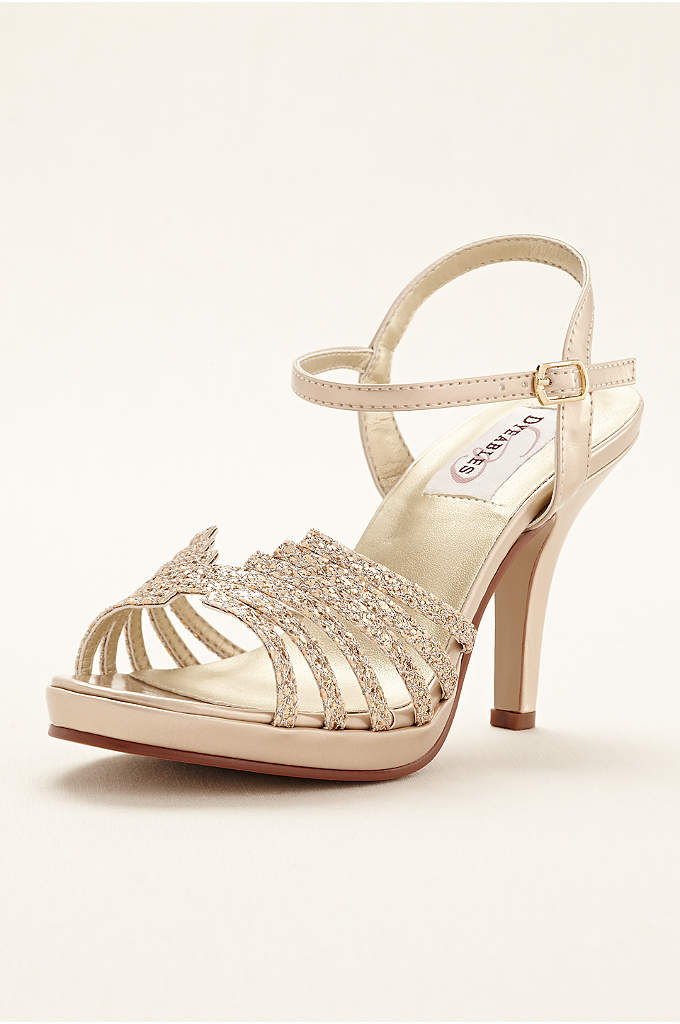 Leah Platform Sandal - Dazzle and delight everyone in these spectacular glittery