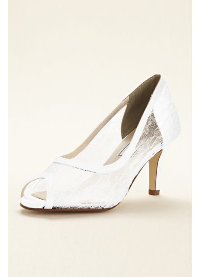 Touch Ups White (Dyeable Lace Satin Pump by Touch Ups)